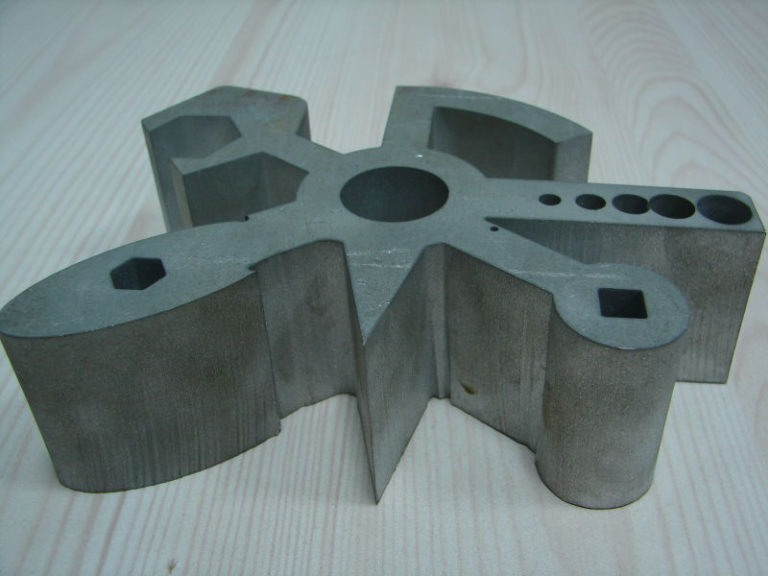 Finished metal material cut by water jet 10