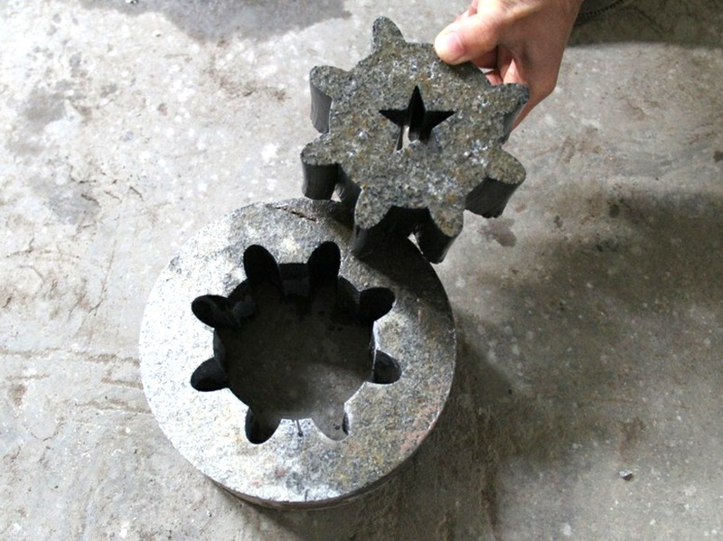 Finished stone material cut by water jet 6