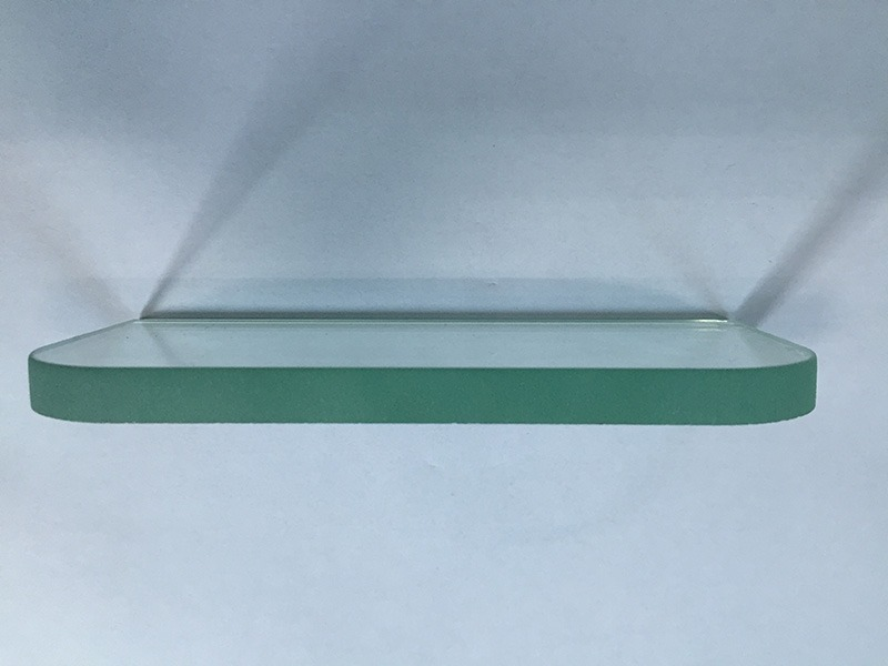 Finished glass material cut by water jet 3