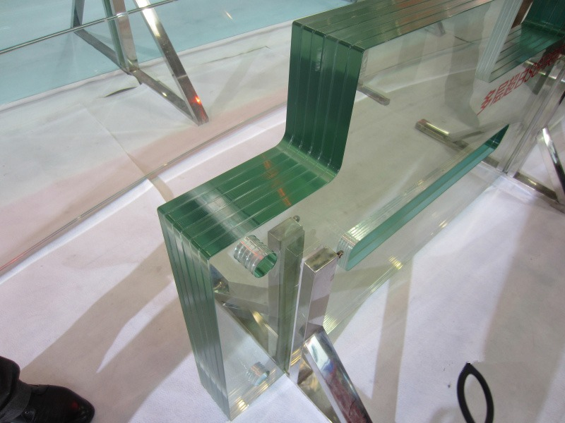 Finished glass material cut by water jet 2