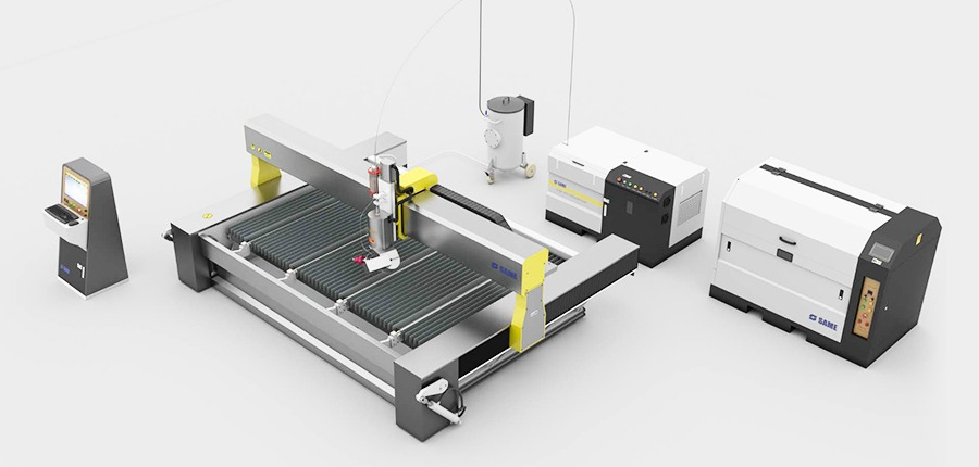 Complete waterjet cutting machine system
