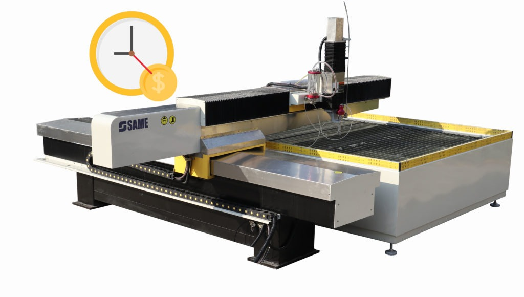 The operating cost of the waterjet cutting machine