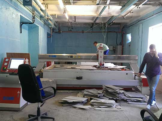 Russian customers are installing SAME waterjets on site 540*405