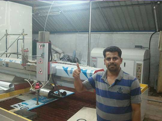 Indian customers are highly satisfied with SAME waterjet 540*405