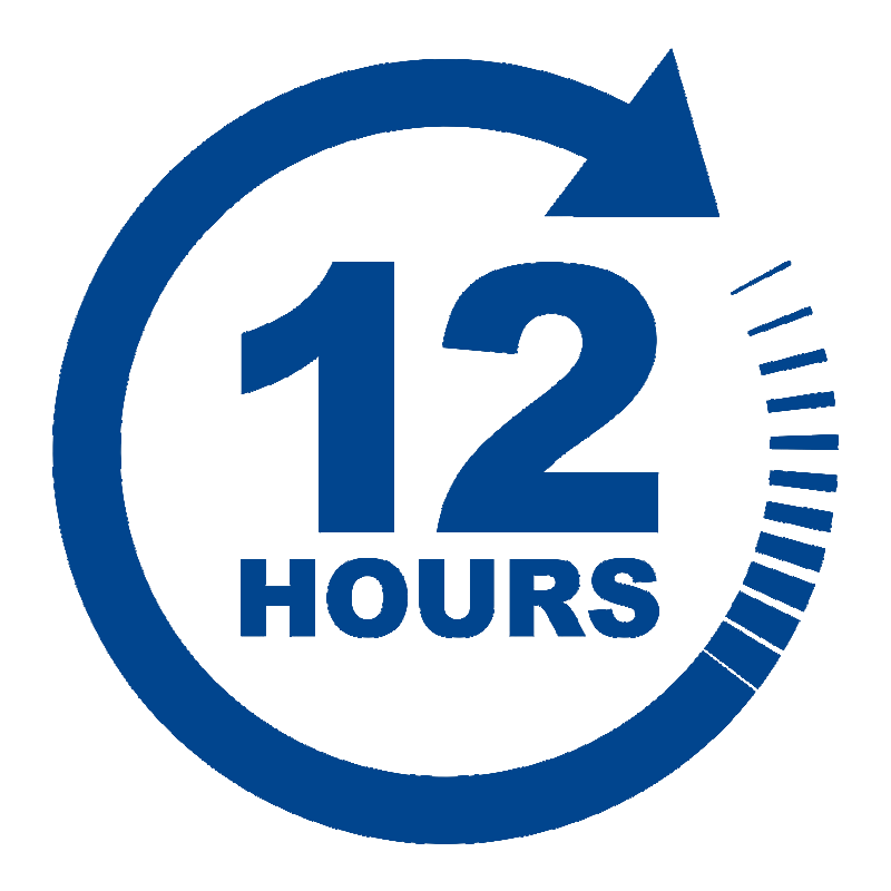 12 hour reply service icon 1
