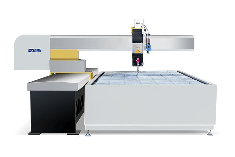 Cantilever 3-axis water jet cutting