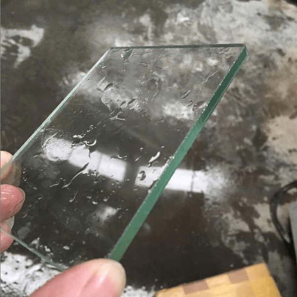 Glass cutting samples