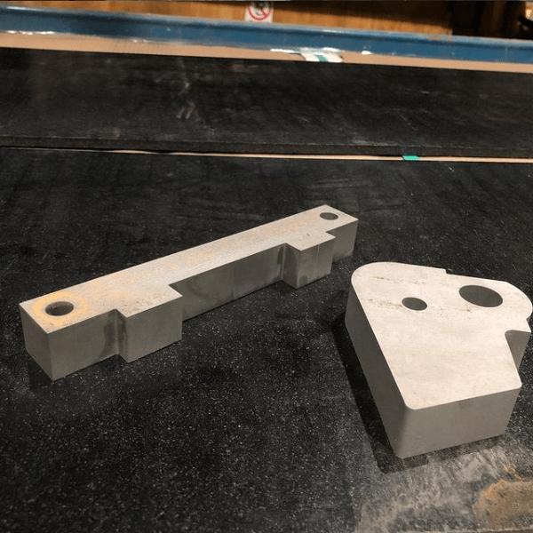 Stainless steel samples