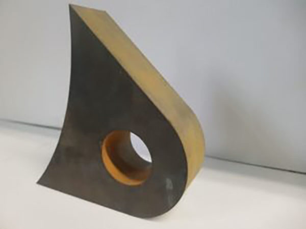 Samples of water jet cutting copper (1)