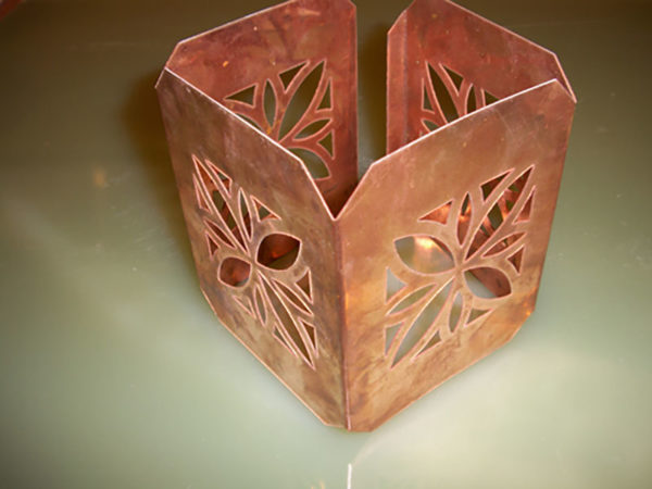 Samples of water jet cutting copper (5)