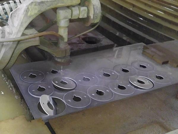 Samples of waterjet cutting aluminium (1)