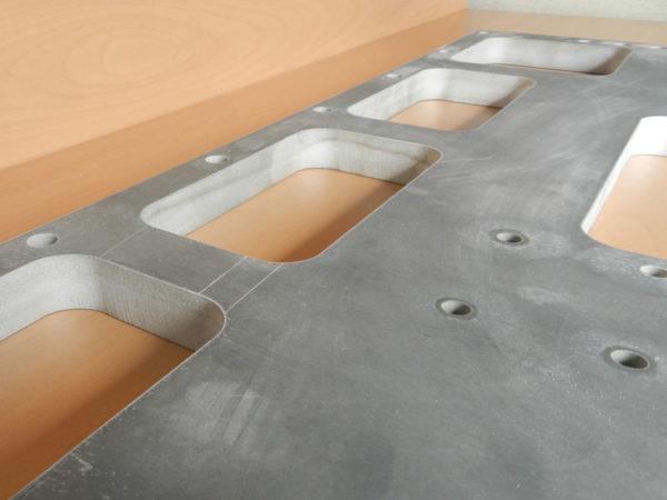 Samples of waterjet cutting aluminium (3)