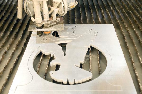 Samples of waterjet cutting aluminium (6)