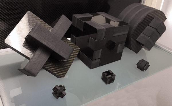 Samples of waterjet cutting carbon fiber (1)