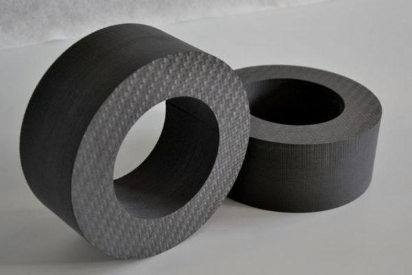 Samples of waterjet cutting carbon fiber (4)