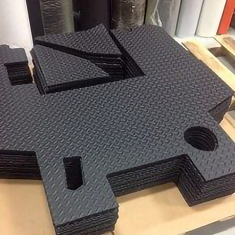 Samples of waterjet cutting rubber (3)