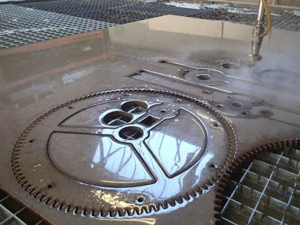 Samples of waterjet cutting steel (2)