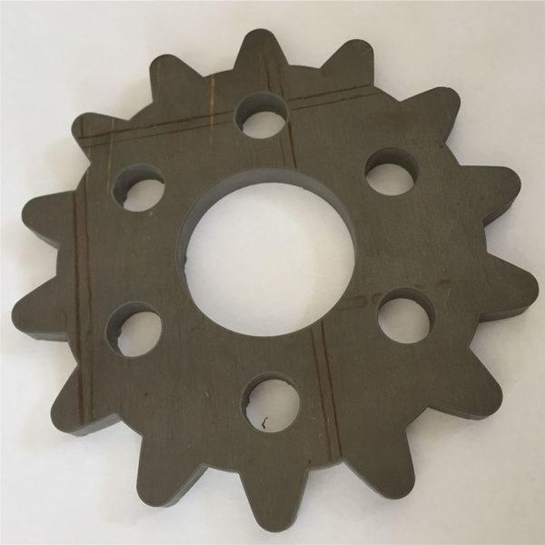 Samples of waterjet cutting titanium (3)