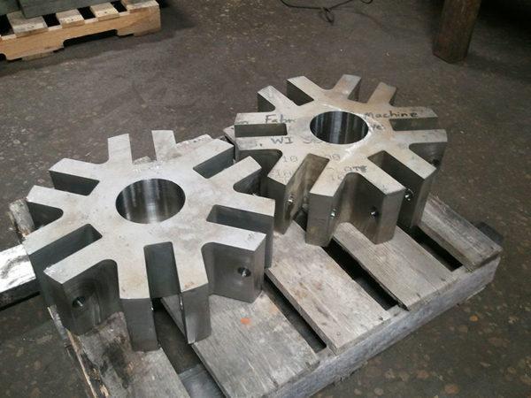Samples of waterjet cutting titanium (6)